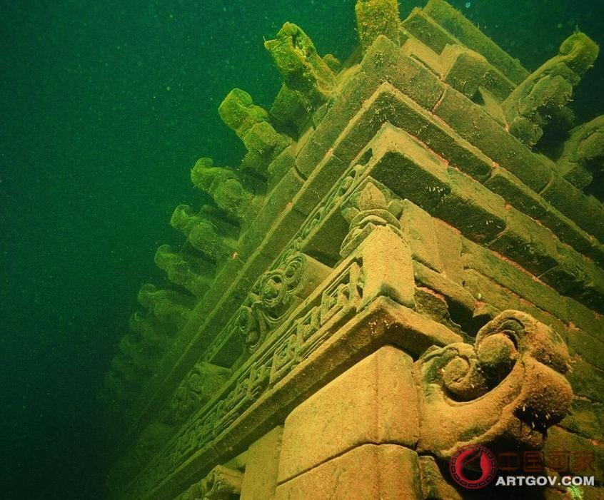 千岛湖水下狮城考古 探索被水淹没的历史古迹-中国家图片