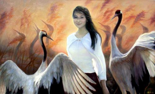 李壮平巫山神女部分油画欣赏图片
