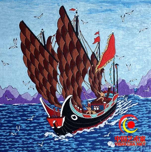 蒋德叶渔家人特有的海洋艺术渔民画的创作大师图片