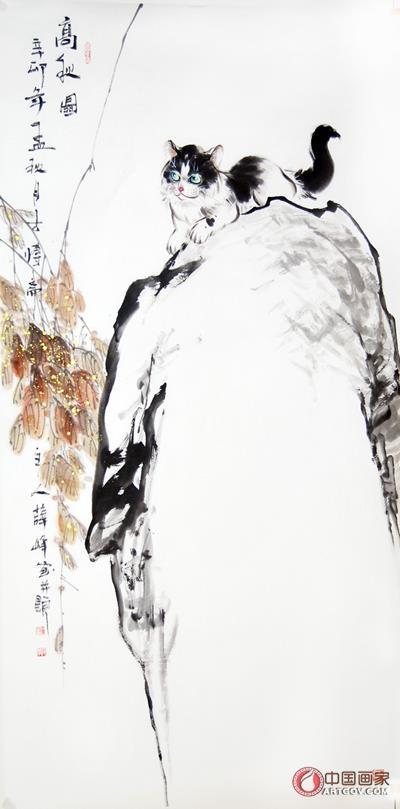 在清丽的工笔设色花鸟画发展的同时,风格简括奔放的水墨写意画也应运