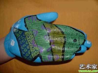 [图片]人体手部彩绘动物精品
