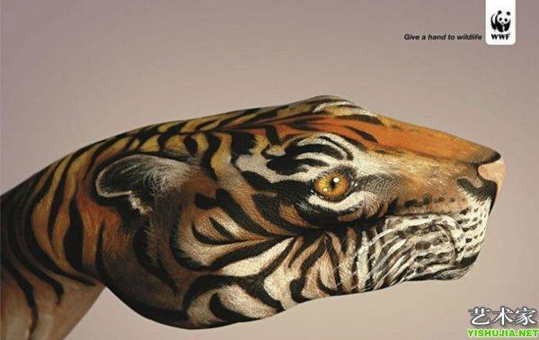 震撼世界的手绘彩绘手