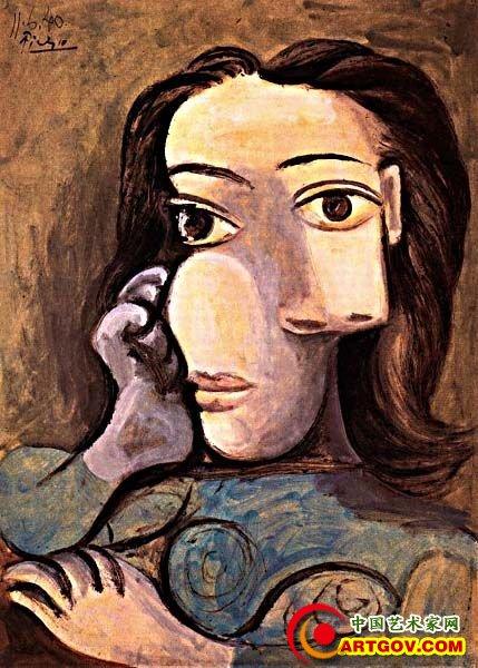 看毕加索笔下的美女